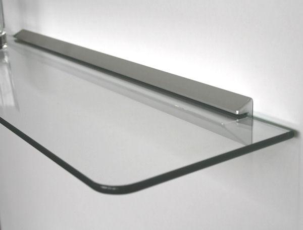 wandregal glasregal 60x15 6 klar profil runde ecken 2r ebay. Black Bedroom Furniture Sets. Home Design Ideas