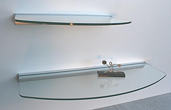 glasregal profil silber glas klar 50 oval kx wandregal. Black Bedroom Furniture Sets. Home Design Ideas