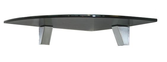 wandregal glasregal ecke schwarz 25x25 clip eckregal ebay. Black Bedroom Furniture Sets. Home Design Ideas