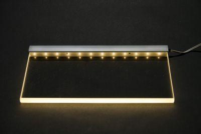 led glasbeleuchtungsschiene uni 20 cm f r glasregal ebay. Black Bedroom Furniture Sets. Home Design Ideas
