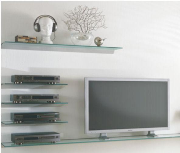 Glasregal 60x40 klar 10mm wandregal profil silber regal for Fenster 60x40