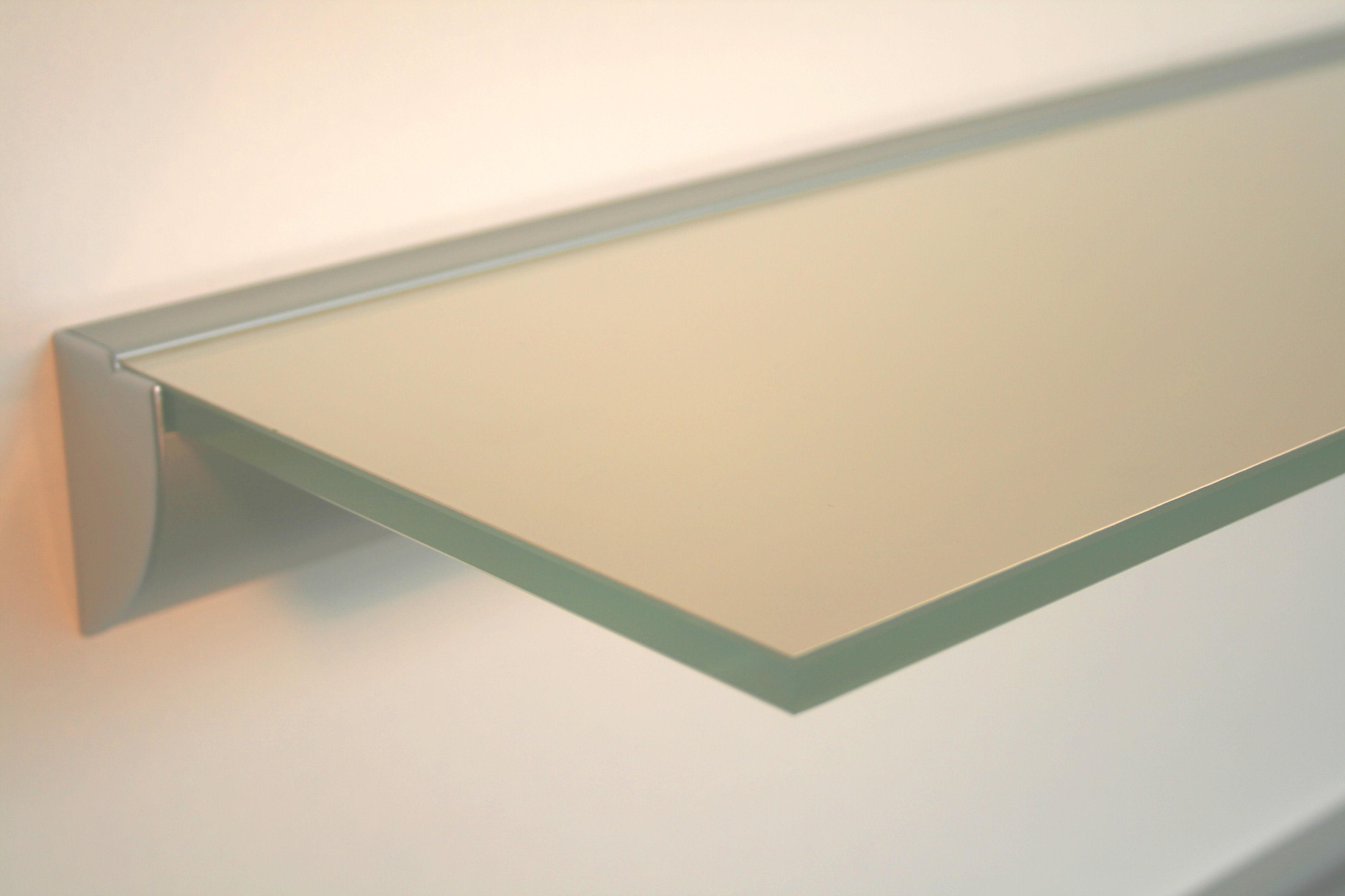 Beeindruckend Wandregal Glas Das Beste Von Geliebte 10 Mm Glasregal / Weiß Lack