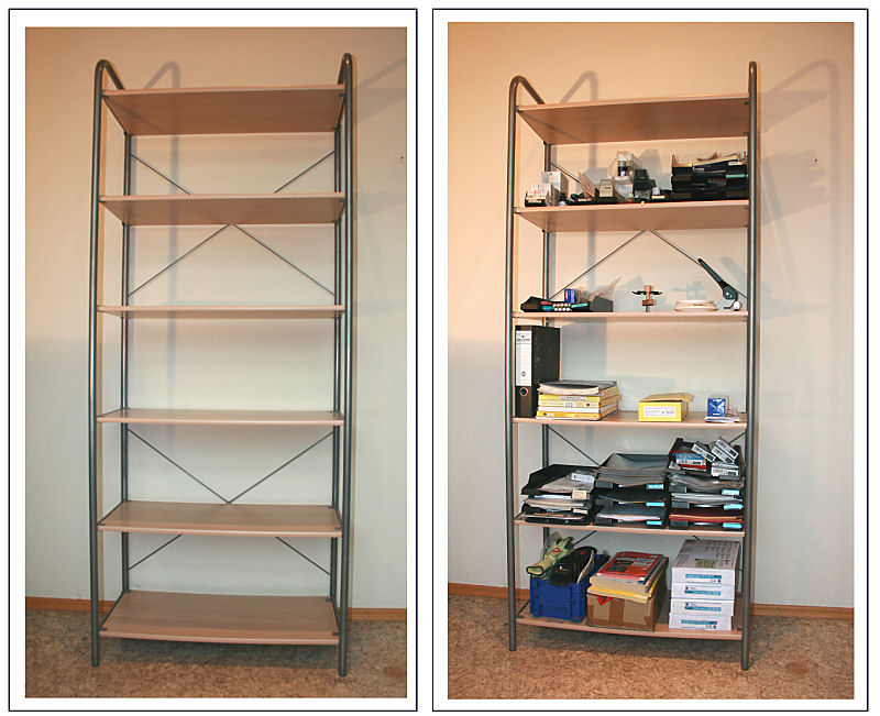 standregal b roregal silber 204 hoch 6 regal b den buche. Black Bedroom Furniture Sets. Home Design Ideas