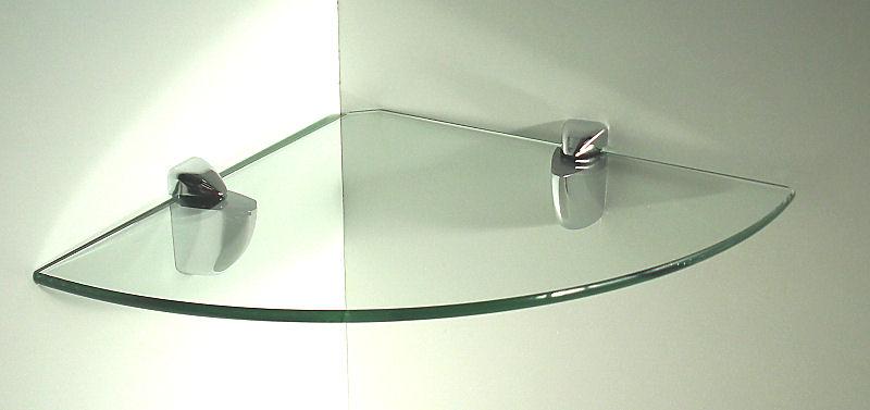 doppelpack 2 st ck glasregal eckregal 25x25 6 clip. Black Bedroom Furniture Sets. Home Design Ideas
