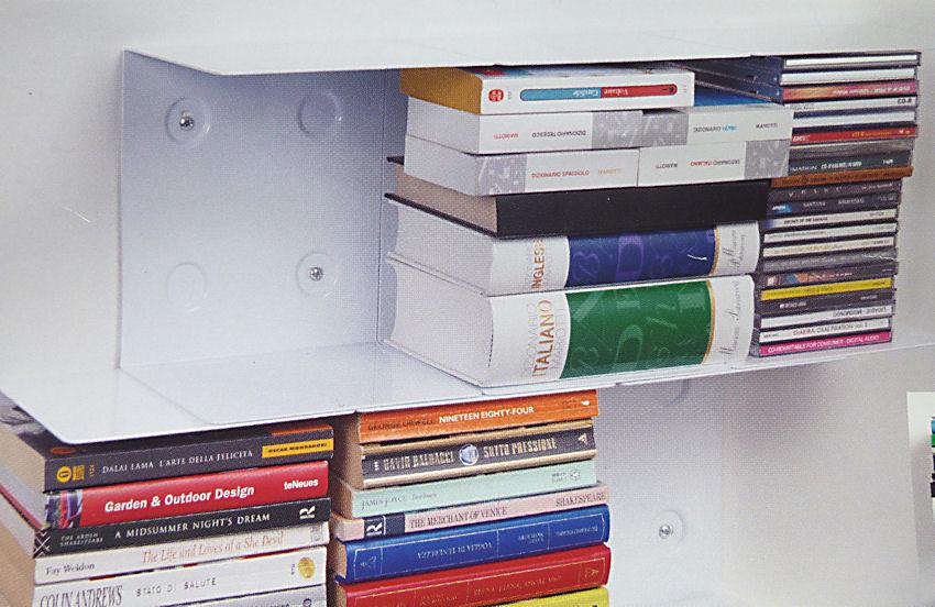 doppelpack 2 st ck unsichtbares b cherregal schwebende b cherstapel wandregal ebay. Black Bedroom Furniture Sets. Home Design Ideas