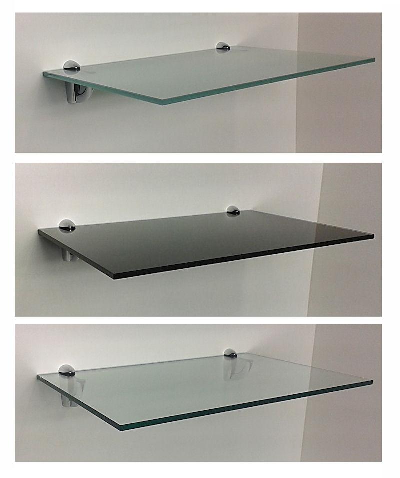 10 mm glasregal glas 60x40 cm mit cliphalterung luna 12. Black Bedroom Furniture Sets. Home Design Ideas