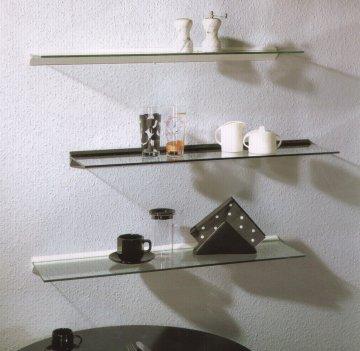 wandregal glasregal 50x20 6 profil klemmleiste regal ebay. Black Bedroom Furniture Sets. Home Design Ideas