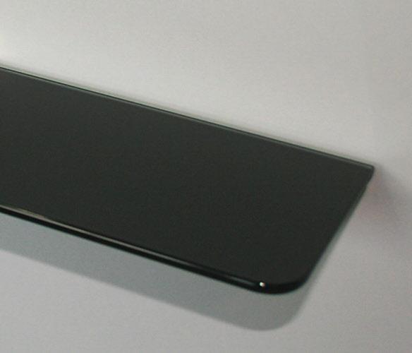 glasboden glasscheibe glasplatte schwarz 6mm stark 50x12 oder 70x13 cm ebay. Black Bedroom Furniture Sets. Home Design Ideas
