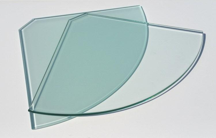 2 wahl glasscheibe eckboden viertelkreis 30cm glas einlegeboden ohne halterung ebay. Black Bedroom Furniture Sets. Home Design Ideas