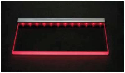 led glasbeleuchtungsschiene uni 50 cm f r glasregal ebay. Black Bedroom Furniture Sets. Home Design Ideas